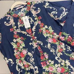 Johnny Was Hadley Tunic Top Blouse Shirt 100% Silk